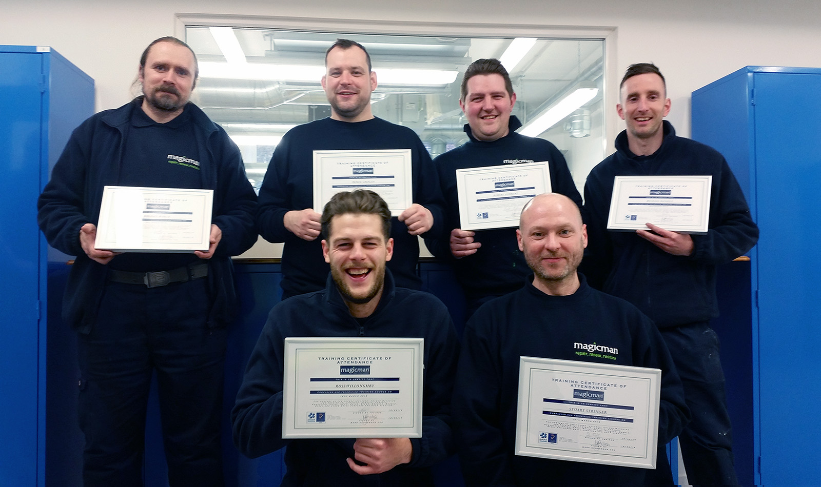 Magicman technicians receive their training certficates